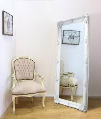 abbey large full length shabby chic vintage leaner mirror white 32