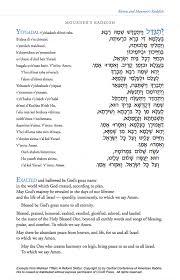yizkor prayer in mourner s kaddish shiva mourning