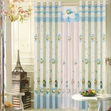 baby blue bees patterns bedroom curtains ideas