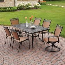 Patio Stack Chairs by Hampton Bay Niles Park 7 Piece Sling Patio Dining Set S7 Adh04300