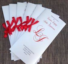 Wedding Programs With Ribbon Wedding Programs Invitations U0026 Stationery Ebay