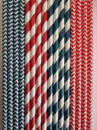 Nautical Home Decorations 50 Red Navy Paper Straws Nautical Anchor Birthday Party Cupcake