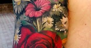 flower garden tattoo by suzanne jacobson 37 tattoo pinterest