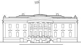 free printable house coloring pages kids white house