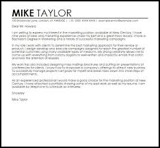 cover letter for marketing job marketing cover letter example