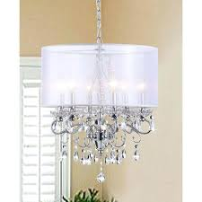 Chandelier With Black Shades Crystal Chandelier With Large White Shade Drum Shade Crystal