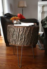 How To Make A Tree Stump End Table by Dining Room Incredible Natural Tree Stump Side Table West Elm Wood