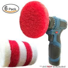 scumbusting scrub pad with drill attachment kit u2013 automatic spin