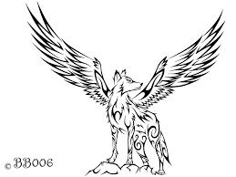 tribal winged wolf a wolf and wolf tattoos