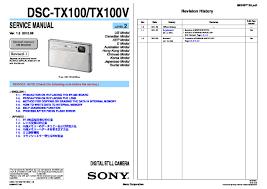 sony dsc tx10 service manual free download