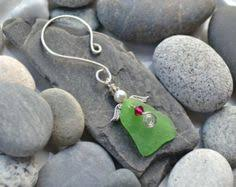diy driftwood and maine sea glass tree ornament kit
