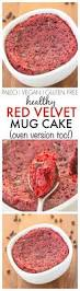 healthy red velvet mug cake fluffy moist yet tender on the