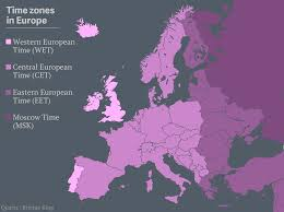 European Time Zone Map by Spain U0027s Been At Least An Hour Behind Since World War Ii And It