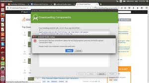 android help forum android studio downloading components error in ubuntu 14 04
