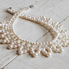 vintage style necklace images Vintage style pearl collar necklace by highland angel jpg