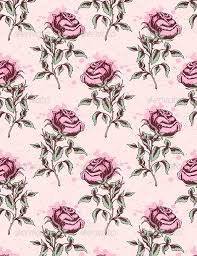 vintage seamless pattern with pink roses by artness graphicriver