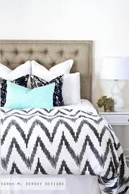 and white and blue bedding