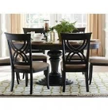black pedestal dining table set foter