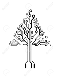 vector logo triangle circuit board tree royalty free cliparts