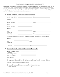 Vendor Information Sheet Template Vendor Information Sheet Template 55 Images Details March