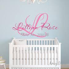 stickers pour chambre bébé fille personnaliser nom sticker pour chambres d enfants bébé fille garçon