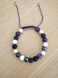 bracelet natural stone images Natural stone beaded bracelet with amethyst howlite brazilian jpg