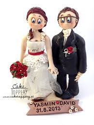 clay wedding cake ornaments