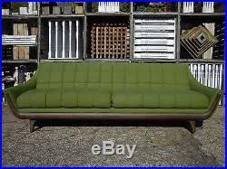 60 u2032s adrian pearsall style tufted gondola sofa mid century modern