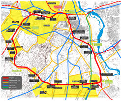 New Delhi India Map by Urban Renewal And Transport Circuit New Delhi India