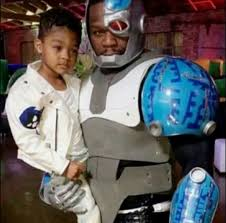 50 Cent Birthday Meme - 50 cent cosplay as cyborg for a birthday party funny dank memes