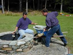 Easy Backyard Fire Pit Designs by How To Build A Stone Fire Pit How Tos Diy