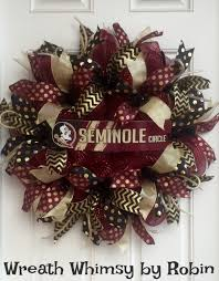 How To Make Halloween Mesh Wreaths by Florida State University Seminoles Garnet Black And Gold Deco