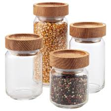 glass canisters for kitchen artisan glass canisters with oak lids glass canisters artisan