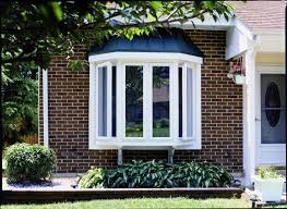 bow window curb appeal simonton windows doors exterior view of bay window above a garden