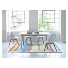4 Seat Dining Table And Chairs Jerry Dining Set With White Extending Table And 4 White Chairs