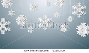 card paper snow flake falling stock vector 732680509