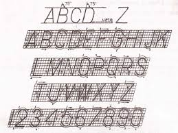 technical lettering engineering drawing