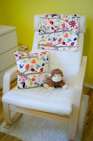 Poang Rocking Chair For Nursery Ikea Poang Rocking Chair Ikea Hempen Rug And Custom Bedding By