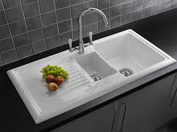 Best Kitchen Sink Material Gallery With Picture White Porcelain - Cast iron kitchen sinks
