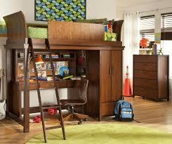wood storage loft bed with desk u2014 modern storage twin bed design