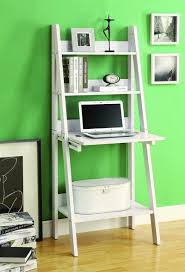 Ladder Office Desk Contemporary Compact White Ladder Desk With Shelving