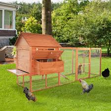 aosom pawhut large backyard chicken coop w long run