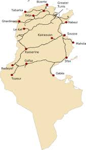 map of tunisia with cities transport in tunisia
