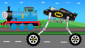 monster truck kids videos new batman monster truck vs thomas blue train monster trucks
