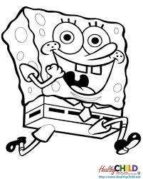 spongebob running spongebob coloring pages