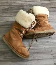 womens ugg montclair boots black ugg australia appalachin lace up suede boot 1007701 chestnut 6