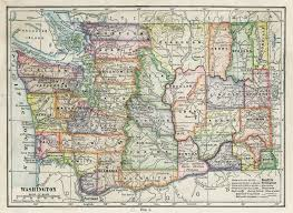 Map Of Washington by Washington Pacific Northwest History Library Guides At