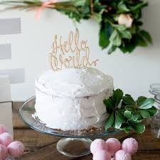 hello baby shower cakes hello world baby shower cake topper
