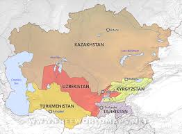 Russia And Central Asia Map by Central Asia By Freeworldmaps Net