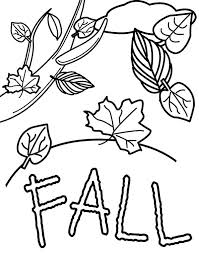 coloring pictures autumn season free printable leaves colouring